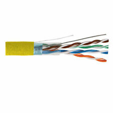 1000 GENERAL CABLE 5133289E 24 AWG 4 Pairs Solid Yellow Riser GenSPEED 5000 UTP Cat5e Cable