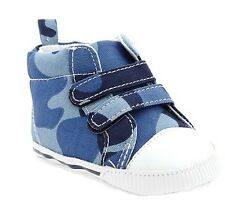 Old Navy Hi-Top Soft Sole Baby Boy Shoes - Blue Camouflage (Size 3-6 mos)