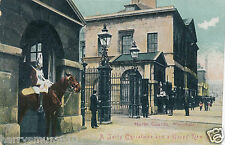 Original photograph postcard Horse Guards Whitehall Christmas early 1900 s (A2)