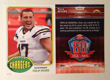 2015 Topps 60th Anniversary 5x7 PHILIP RIVERS Chargers (#d /99) RETRO REPRINT
