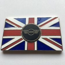 BMW MINI Car Union Jack GB Brass Enamel Metal Badge - Self Adhesive