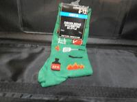 Mens Green Novelty Socks size 6-12-BBQ