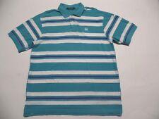 Designer Marithe Francois Girbaud Blue Men's Shirt Sz XL Polo Striped Blue