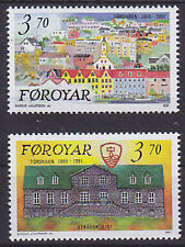 Faroe Is. 1991 125th Anniversary of Torshavn as Capital Set UM SG208-9 Cat £3.20