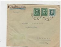 czechoslovakia 1927 stamps cover ref 21009