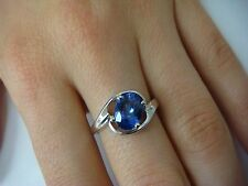 14K GOLD 1.58 CT AAA TANZANITE SOLITAIRE WITH FREE STYLE SETTING RING, SIZE 6.5