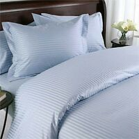 Top Class Bedding Collection 1000TC Egyptian Cotton AU Sizes Sky Blue Striped