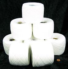 Wollpaket 1000g (1kg) weiße 100% Baumwolle  Handstrickgarn Häkelgarn Nr.02-1