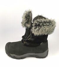 Keen Dry Warm Women Boot Helena Waterproof Sz 8.5 M Black Leather Mid Insulated