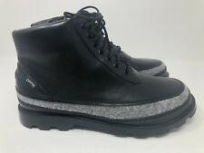 New Men's Size 9/42 Camper Runner Black Leather Sneakers Boots