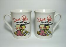 SET OF TWO DEAR GOD CUPS - FRIENDS ARE FOREVER