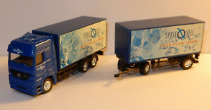 HÜMMER HO 1/87 CAMION SEMI TRUCK TRAILER MB ACTROS EAU MINERALE SPREE QUELL