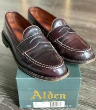 Alden 986 Shell Cordovan Leisure Handsewn Penny Loafers - Size 10B/D - Color #8