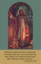 Jesus Knocking Prayer Card and Devotional Prayer Card (wallet size)