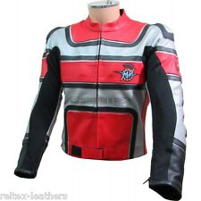 Rot Silber Schwarz Klassisch Mv Agusta Biker Motorrad Ce Leder Jacke
