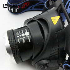 1000Lm XM-L T6 LED Zoomable Linterna Cabeza Luz Frontal LÁMPARA 2X18650 Cargador