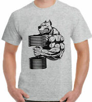 Bulldog Gym T-Shirt Mens Gym Bodybuilding Muscle Top Weights Training UFC