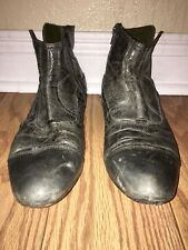 area forte Mens Ankle boots Charcoal Gray Size 44 Euro 11.5 Us