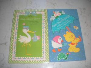 vintage Hallmark Baby shower game tablet two books with several unused sheets