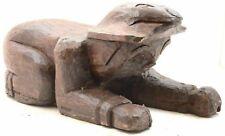 Antique Northwest Coast Salish Carved Wood Totem Statue figure crawling Man VTG