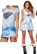 Black Milk Clothing Blue Tie Dye Game Of Thrones Official T-shirt Top Small