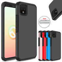 For Google Pixel 4/4 XL Phone Case Shockproof Hybrid Armor Rugged Rubber Cover