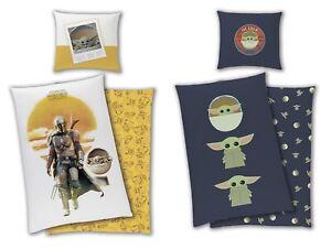 Star Wars Mandalorian Yoda the Child Kinder Bettwäsche Set 135x200 Baumwolle Neu