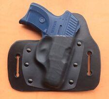 leather/kydex hybrid OWB beltslide holster for Ruger LC9, LC380, LC9s, EC9s