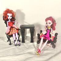 Monster High Doll Playset Draculaura Operetta Furniture Chair Fireplace Ottoman