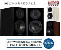 Wharfedale Diamond 12.1 Bookshelf Speakers Black, Light Oak or Walnut