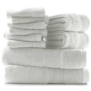10 Piece Towel Set Ultra Soft Cotton Bath Towels Hand Towels and Washcloths