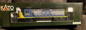 Kato HO Scale Locomotive (yellow nose) CSX #8488 SD40 Diesel 37-01R