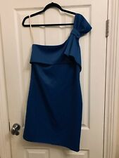 Halston Heritage Blue Short Dress Size S - Perfect mother of the bride dress