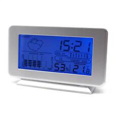Digital Alarm Wecker Tischuhr LCD Wecker Temperaturanzeige Wettervorhersage