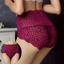 Seamless Underwear Women Knickers Lace Floral Panties Plus Size High Waist