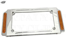 Billet License Plate Frame with Turn Signals for Motorcycle License Plate Frame
