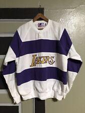 Vtg 90s Starter Los Angeles Lakers Pullover Summer Pullover Shirt Mens XL