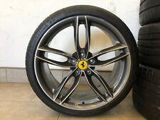 "20"" Ferrari 488 Silver Wheels W/ Tires Full Set"