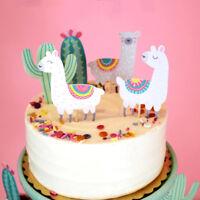 5pcs alpaca cactus cake topper cute alpaca birthday party decoration supplies JR