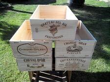3er Set WEINKISTE 12er französische Chateau Wein Regal Shabby Grand Cru Pomerol