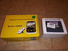 Mixed Lot of 2 Kivos & Digital Peephole Viewer Video Camera Door Bell Recorder