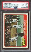 1965 TOPPS #132 WORLD SERIES GAME 1 PSA 8.5 NICELY CENTERED *ADT4341