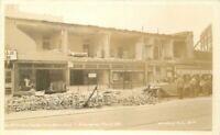 Earthquake Damage Disaster Long Beach California 1933 Frasher Postcard 21-2225