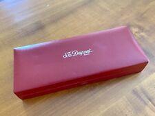 S.T. Dupont Paris Fountain Pen red storage box W/ warranty Card
