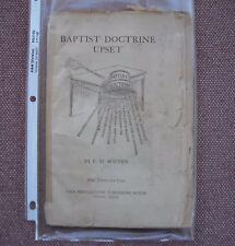 Baptist Doctrine Upset ~ E M Borden   ~ Church Of Christ ~ VERY SCARCE !!!
