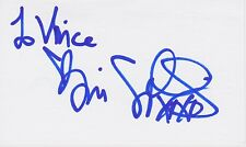 Tori Spelling signed 3x5 index card