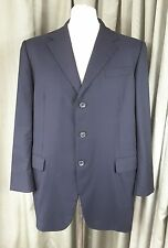 PRADA Milano 100% Wool Navy Blue Jacket Blazer 44R EXCELLENT CONDITION