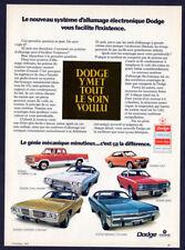 1972 DODGE Vintage Original Print AD Challenger Charger Colt Dart Monaco French