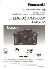 Panasonic DMC-G2K/DMC-G2W/DMC-G2 Gebruiksaanwijzing dutch manual - (0633)