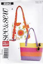 BUTTERICK SEWING PATTERN SEE & SEW YES IT EASY MARKET TOTES  #B5842